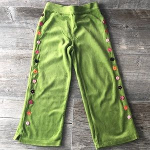 Girls' Gymboree Velour Pants 4T